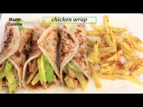 Tasty Chicken Wrap With Frozen Paratha Recipe,Chicken Paratha Roll Recipe