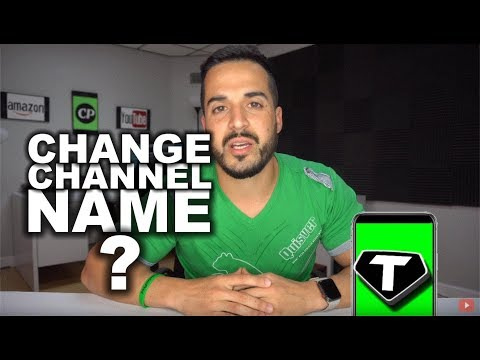 How to Completely Change a YouTube Channel Name + Channel Update