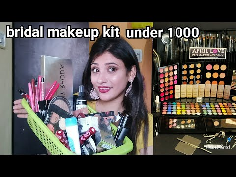 INDIAN BRIDAL MAKEUP KIT UNDER 1000 ONLY || IN HINDI || shystyles