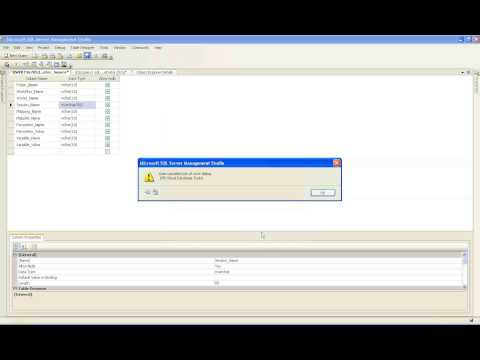 Making changes to an Existent Table in SQL Server 2008 By Vamsi