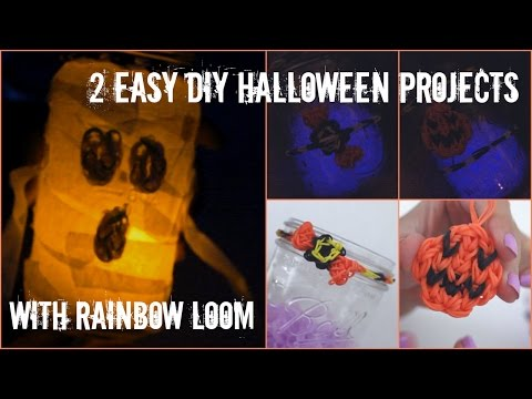 2 Easy DIY Projects with Rainbow Loom for Halloween