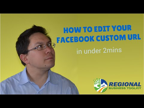 How to change your Facebook Custom/Vanity URL