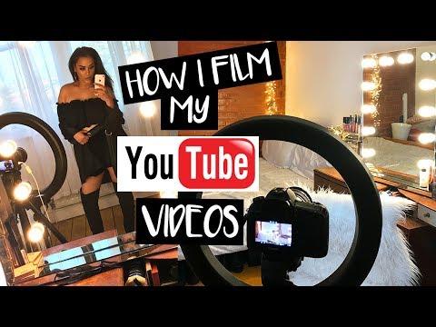 HOW I FILM MY YOUTUBE VIDEOS IN MY BEDROOM BEGINNERS| NikkisSecretx