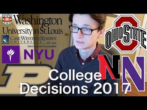 9 SALTY College Decision Reactions 2017 (Northwestern, WashU, NYU, Purdue, OSU, Case, etc)