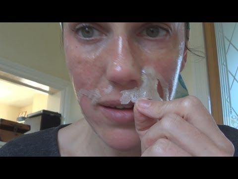FUN way to GET RID of BLACKHEADS (DIY Biore face strips) -Vintagious