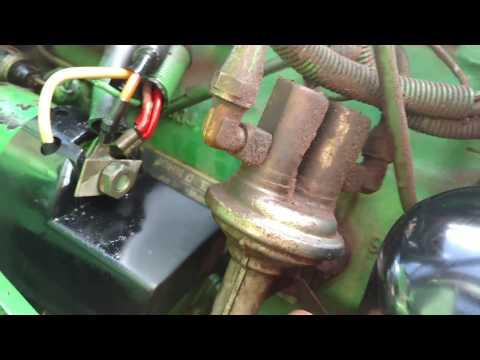 How to change fuel filter on John Deere 2155 tractor
