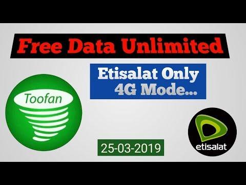 Free Etisala 4G Internet| TOOFAN TUNNEL VPN|25 03 2019