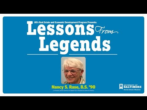 Lessons From Legends: Nancy Rase
