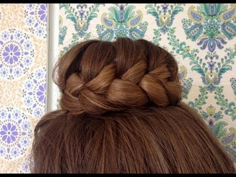 Lace braided bun tutorial - HairAndNailsInspiration