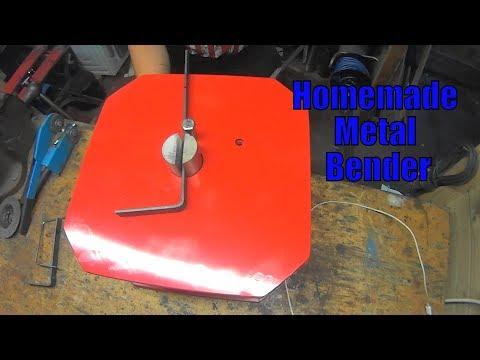 bending metal on a Homemade metal Bender