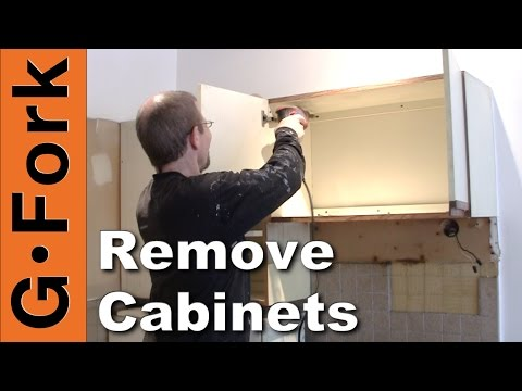 How To Remove Kitchen Cabinets - updated - GardenFork