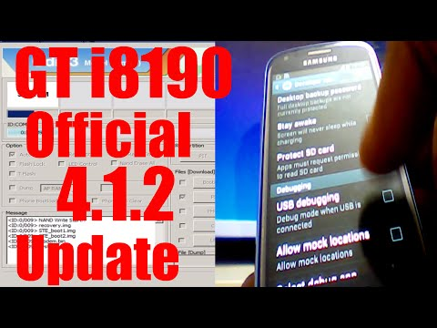 How to flash Official update 4.1.2 in samsung galaxy s3 mini