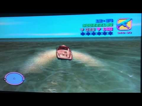 GTA Vice City Hitting The Invisible Barrier With A Boat