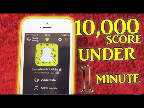 INCREASE SNAPCHAT SCORE! Watch This!! iOS 10 - 11 (No Jailbreak / No Computer)