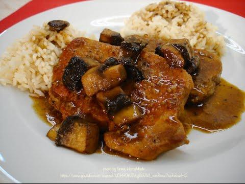 Tender Pork Chops with Mushrooms & Mustard Sauce - Recipe