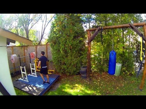 Outdoor Weightlifting Platform and Gym Set-up in Canada