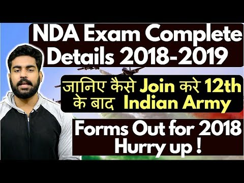 How to Join Indian Army after 12th | NDA Exam Complete Detail Hindi | Navy | Air Force | 2018 | UPSC