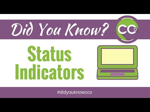 Did You Know CCO 035 Status Indicators