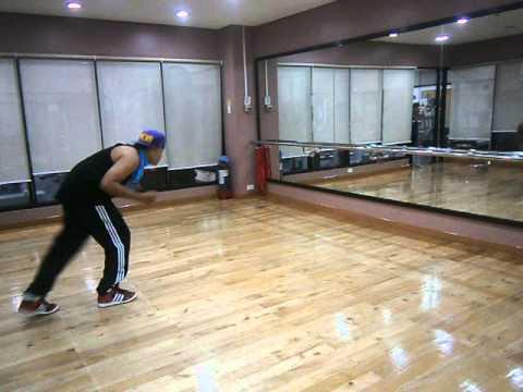 bboy jaman rehears limbo for zumba dance class