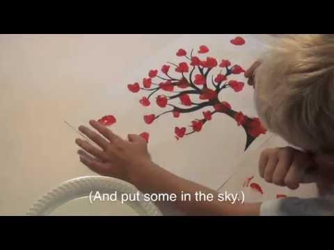 How to Make a thumb print heart tree artwork