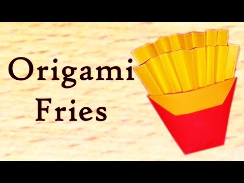 How To Create French Fries From Paper | Creative Origami French Fries | Easy Crafting Steps