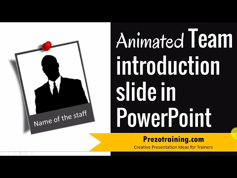 Creative Team Introduction Slide in PowerPoint