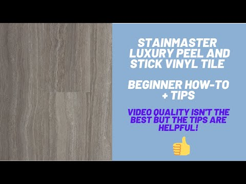 Stainmaster Peel and Stick Vinyl Tile - Beginning How-To + Tips