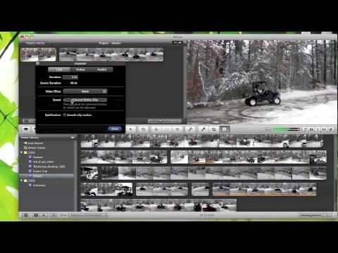 iMovie 09 Tutorial - Slowing down and Speeding up Footage