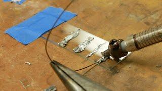 Ultrasonic soldering bonds glass, titanium, stainless steel, ceramics, tungsten, nichrome...