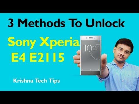 Sony Xperia E4 E2115 Hard Reset - E4 Pattern Unlock Solution