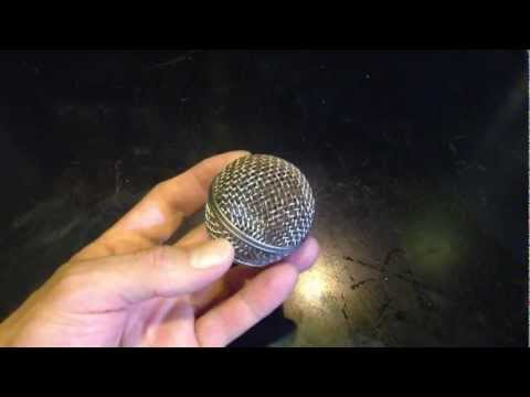 How to get rust off a shure microphone grill with Coke