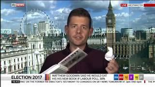 Matthew Goodwin eats his book on Sky News
