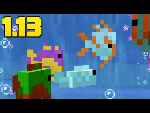 WORKING Aquariums! (Feed Fish) Minecraft 1.13 Snapshot