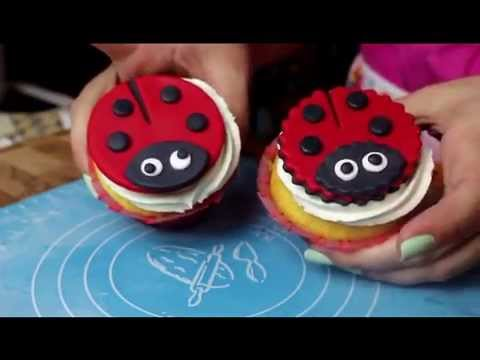 Love Bug Cup Cake Toppers