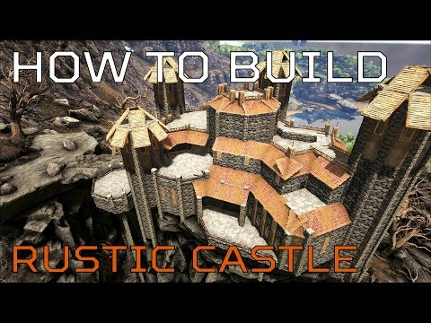 🦄 Ragnarok HOW TO BUILD Rustic Castle | Ark Survival [NO MODS]