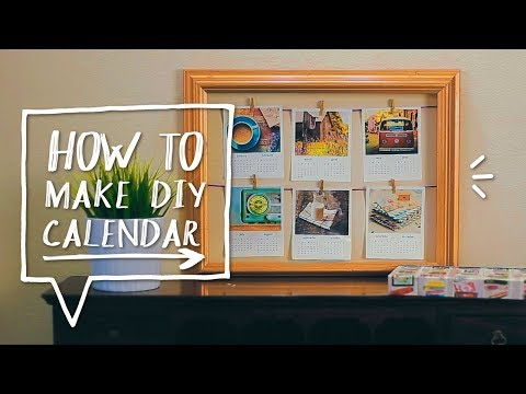 DIY POLAROID CALENDAR | Make a DIY Calendar for Back to School | DIY Room Decor ✨ Alejandra's Styles