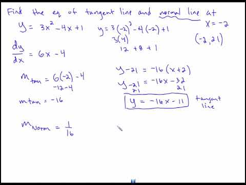 Finding equation of tangent line and normal line