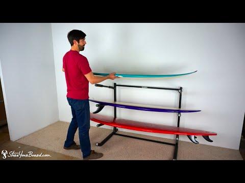 Freestanding Surfboard Floor Rack | 3 Surfboards | StoreYourBoard