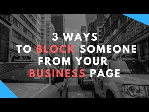 How to Block Someone from your Business Page