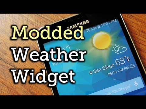 Theme the Stock Weather Widget on Your Samsung Galaxy S5 [How-To]