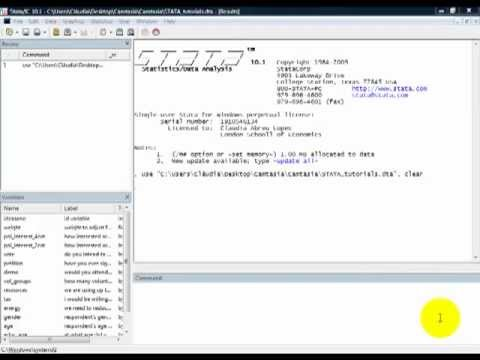 STATA Tutorials: Mathematically Transforming a Variable