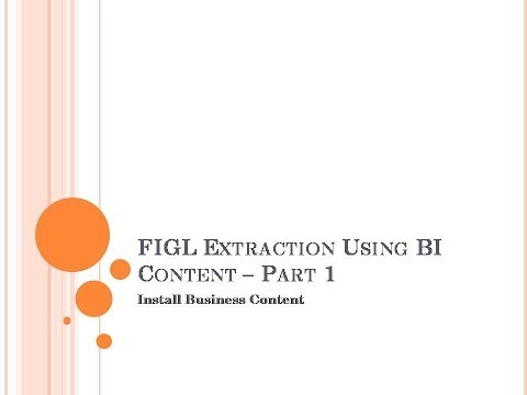 SAP BW : FI Extraction   Part 1 -  Install BI Content