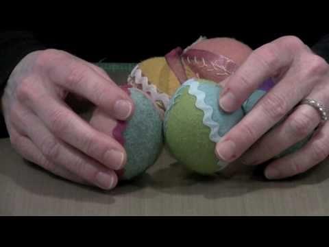 Making Wool Felt Easter Eggs by Joggles.com