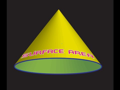 How To Find The Total Surface Area Of A Cone: THE EASY WAY!