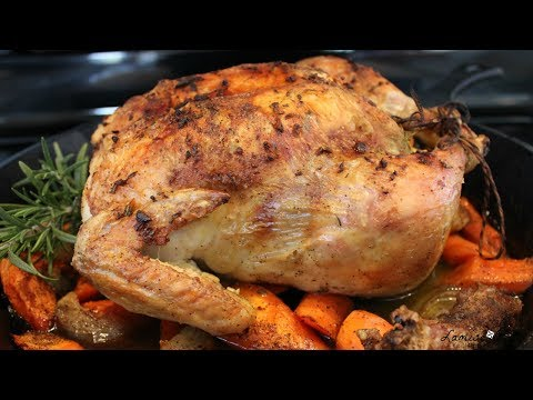 Whole Roasted Chicken | Roasted Chicken using Haitian Seasoning | Poulet au Beurre | Episode 117