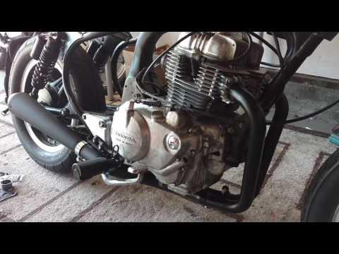 Honda CM400T Cafe Racer Build PART 6 - Exhaust