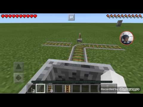 How to make a switch rail in minecraft pe