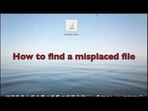 T Apple Tutorial Find a Misplaced File