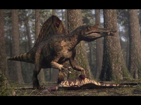 Spinosaurus vs Carcharodontosaurus | The balance of power  | Planet Dinosaur | BBC