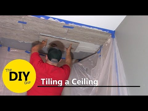 How to install tile in shower ceiling